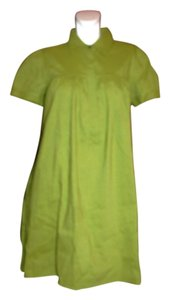 Theory short dress Green Shirt Linen Blend Above Knee on Tradesy