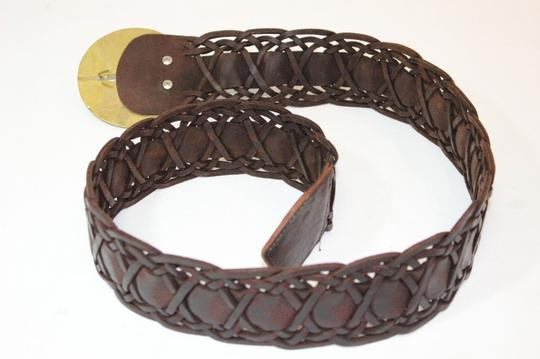VFlourish RARE Moroccan Leather Woven Wide Belt