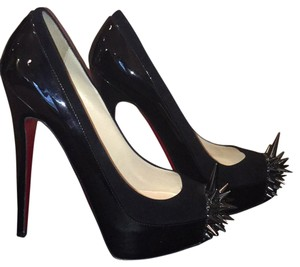 Christian Louboutin Black with suede trim Platforms