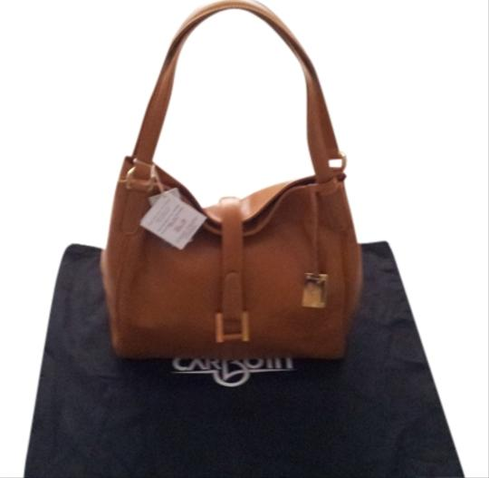 Preload https://item5.tradesy.com/images/carbotti-leather-shoulder-bag-tan-1137009-0-0.jpg?width=440&height=440
