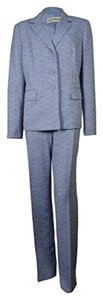 Evan Picone EVAN PICONE NEW Womens Classic Time Navy 2PC Three-Button Pant Suit Size 8