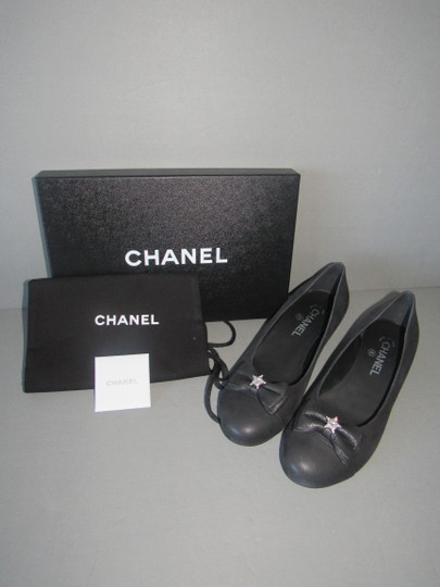 Chanel Star With Box Black Flats Image 3