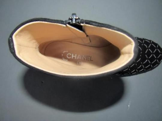 Chanel Chain Detail With Box Black Boots Image 1