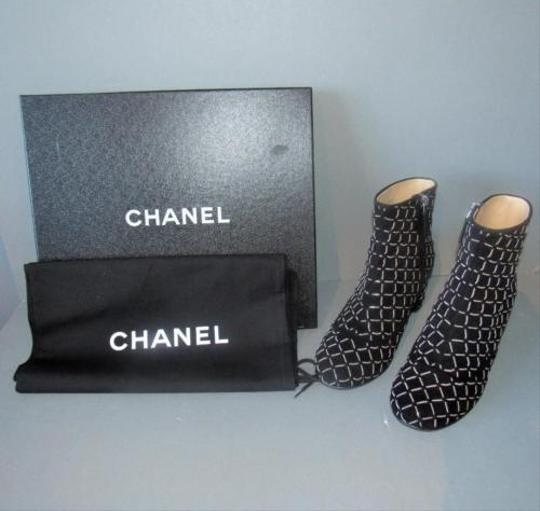 Chanel Chain Detail With Box Black Boots Image 6