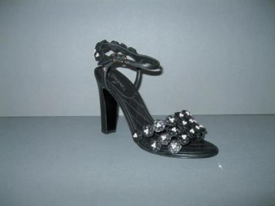 Chanel Camellia Pearl Black Sandals Image 1