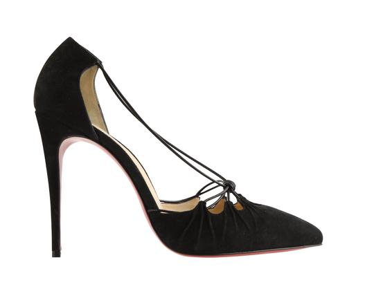 Christian Louboutin Suede Leather Black Pumps Image 0