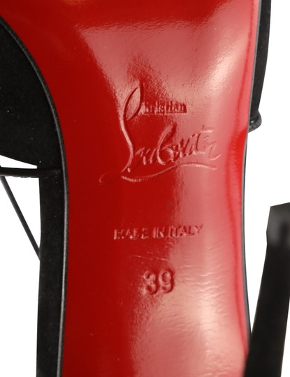 Christian Louboutin Suede Leather Black Pumps Image 10