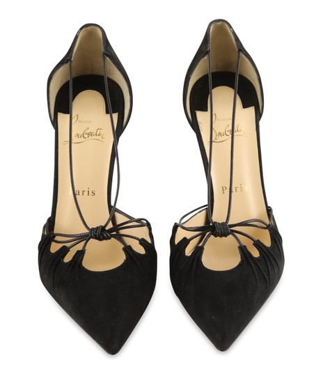 Christian Louboutin Suede Leather Black Pumps Image 2