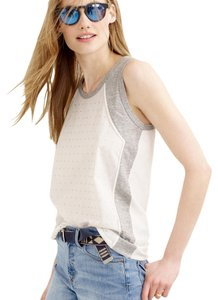 J.Crew Embellished Sparkle Jeweled Top Ivory