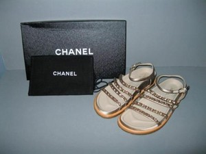 Chanel 15p Beige O Clock Taupe Sandals