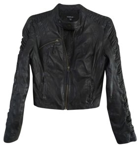 bebe Soft Leather Edgy Leather Jacket