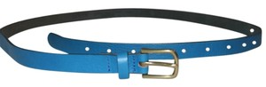 J.Crew J. Crew Yacht Blue Genuine Leather Belt