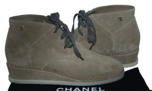 Chanel Cc BEIGE Boots