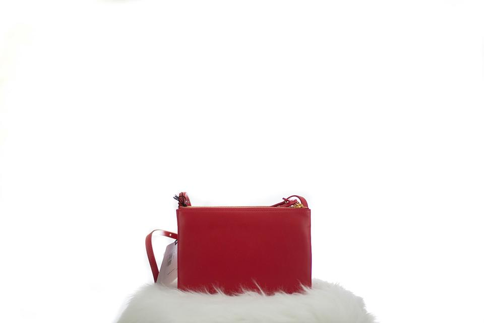 celine cabas blue - C��line Small Trio Red Cross Body Bag | Cross Body Bags on Sale at ...