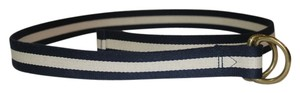 J.Crew J. Crew Navy Blue/Ivory Striped Belt