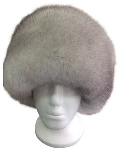 NATURAL WHITE LIGHT GRAY ARCTIC FOX WOMEN'S HAT SIZE XL NEW WITH TAG