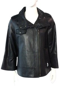 New Identity Motorcycle Leather Leath Bell Sleeve Leather Jacket