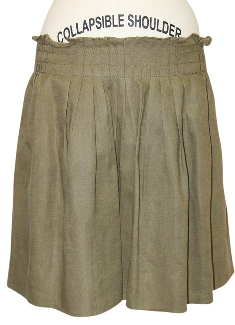Preload https://img-static.tradesy.com/item/1137196/jcrew-green-womens-army-linen-short-ruffled-a-line-mini-knee-length-skirt-size-6-s-28-0-0-650-650.jpg