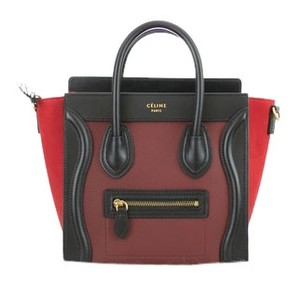 Céline Luggage Tri Color Leather Cross Body Bag