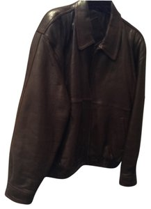 Roundtree and York Brown Leather Jacket