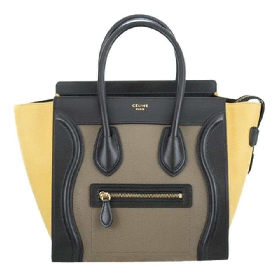 1e9d7adecf1d Céline Luggage Tri-color Micro Vanilla Leather Suede Satchel - Tradesy