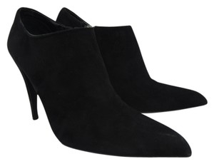 Prada Suede Pointed Toe Black Boots