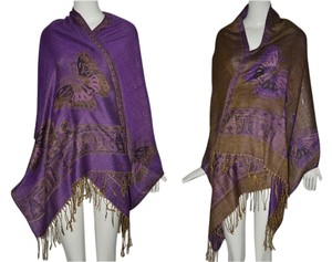 Other Pashmina Over Sized Double Sided Butterfly Design Shawl Wrap Scarf Free Shipping