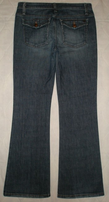 JOE'S Jeans Low Rise *zipper Fly Leg Opening *coin & Back Flap Pockets *cotton/Spandex *whiskering & Distressing Detail *style: Boot Cut Jeans-Dark Rinse