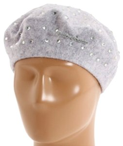 Juicy Couture Juicy Couture Rhinestone Beret in Heather Cozy - 100% Wool