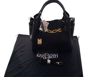 Carbotti Leather Hnadbags Tote in Black