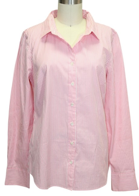 Preload https://item4.tradesy.com/images/jcrew-pinkivory-haberdashery-stretch-shirt-striped-button-down-top-size-8-m-1137283-0-0.jpg?width=400&height=650