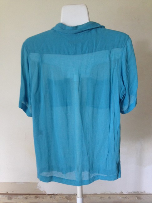 DKNY Top Turquoise