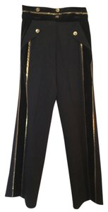 Derek Lam Trouser Pants black, gold