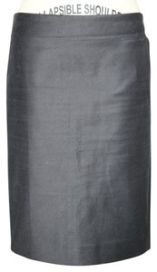J.Crew No 2 Pencil In Double Serge $110 4 Skirt Black