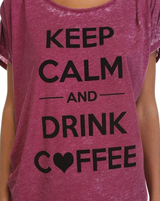 Item - Mulberry Keep Calm Drink Coffee Burnout Graphic Small Tee Shirt Size 4 (S)