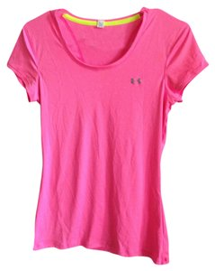 Under Armour Lightweight Dri-fit Monogram T Shirt Pink