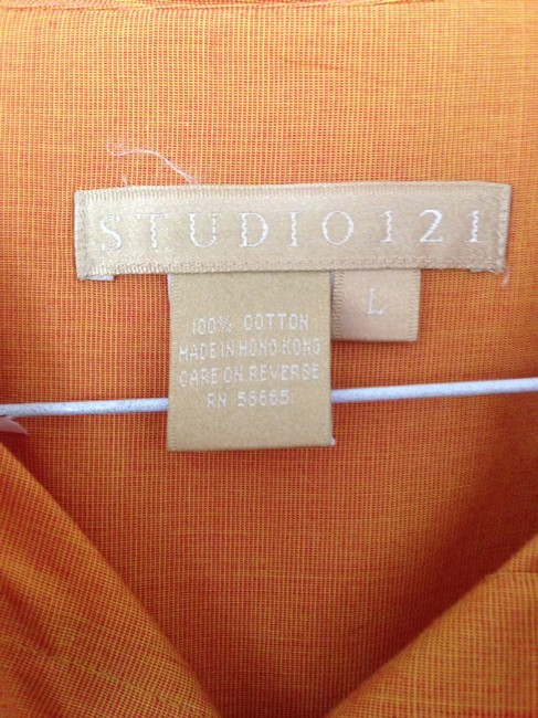 Studio 121 Button Down Shirt Pumpkin