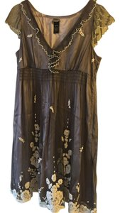 Anthropologie Soft Lovely Floral Embroidered Empire Waist Dress
