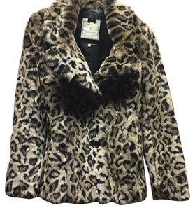 Guess Faux Fur Motorcycle Jacket