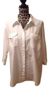 Croft & Barrow Button Down Shirt White