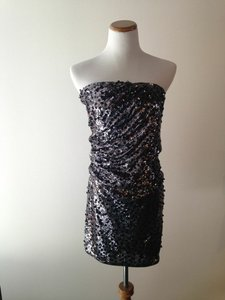 Alice + Olivia Sequin Strapless + Dress
