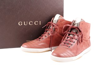 Gucci Suede Sneakers Lace Up Old Rose Athletic