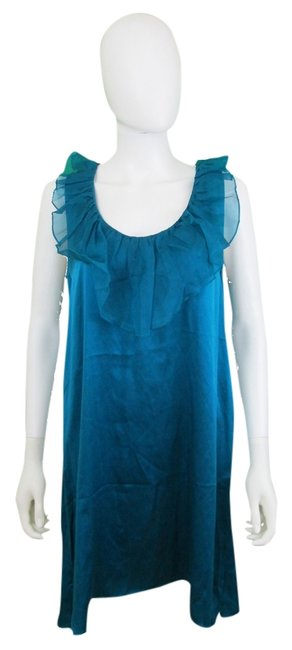 Preload https://item1.tradesy.com/images/geren-ford-blue-ruffle-silk-scoop-neck-above-knee-cocktail-dress-size-8-m-1137455-0-0.jpg?width=400&height=650