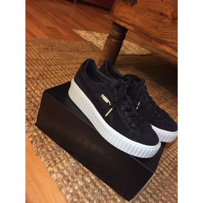 Item - Black with Blue Sole Creepers Sneakers Size US 8.5 Regular (M, B)