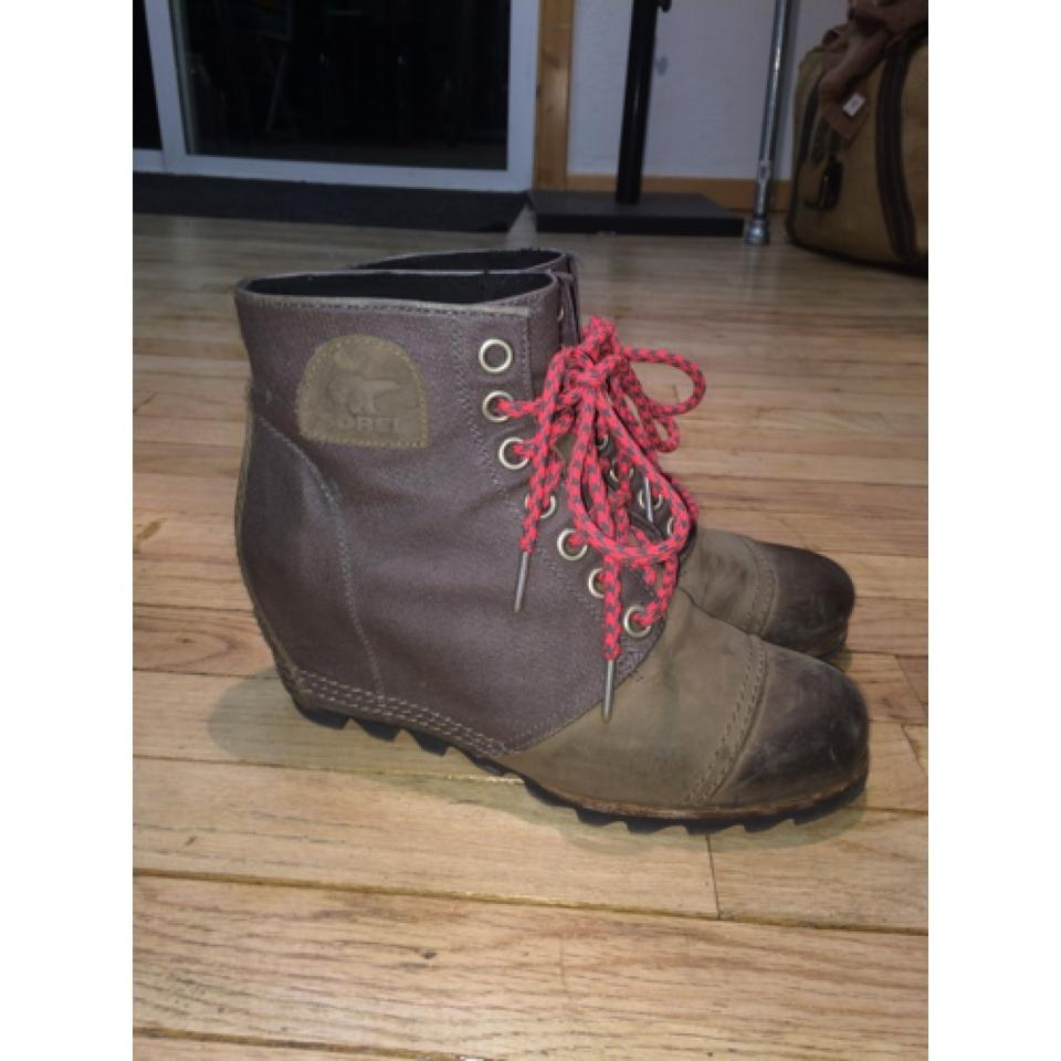 87a6fec3fc07 Sorel Shale 1964 Womens Premium Wedge Boots Booties Size US 8.5 ...