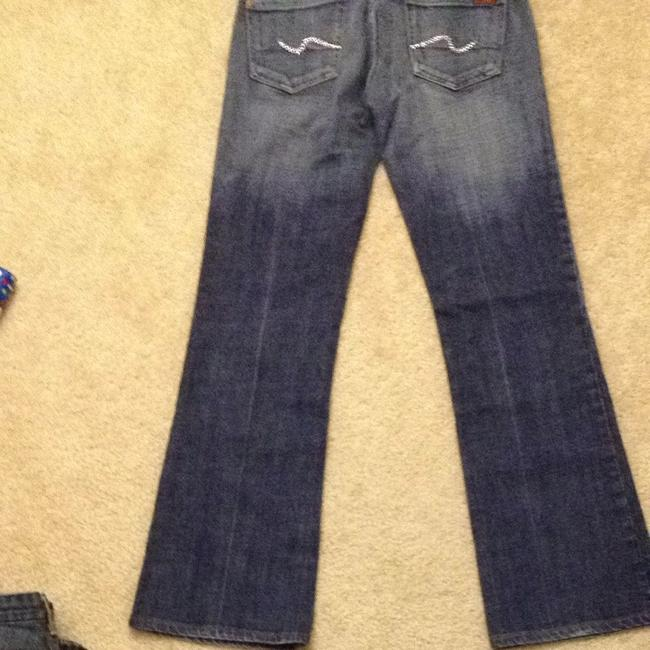 7 For All Mankind Swarovski Crystals Bling Boot Cut Jeans-Medium Wash