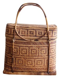 Other Vintage Wicker Grass Straw Nyfw Shoulder Bag