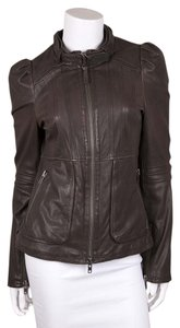 Mackage Gray Leather Jacket