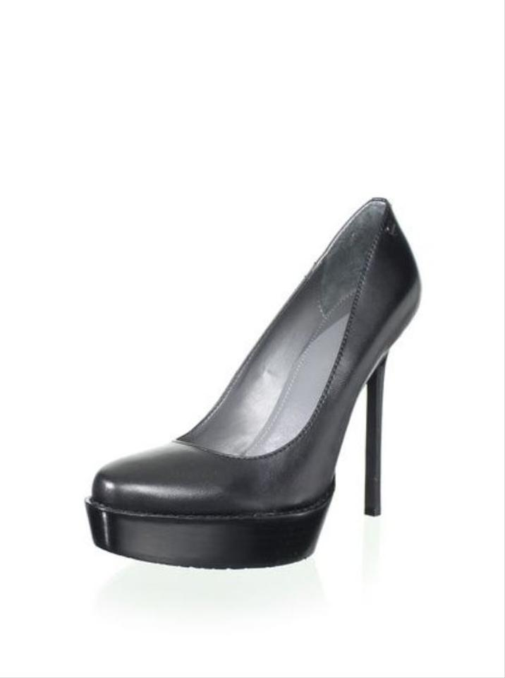 6a659bafba3b Calvin Klein Black Women s Dria Leather Platform Pumps Size US 8 ...