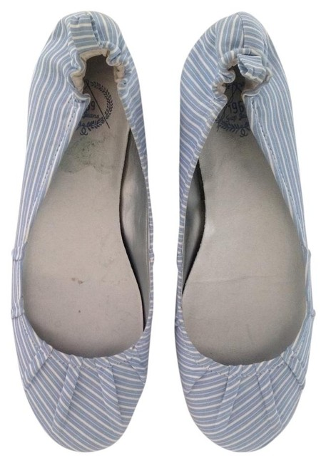 Gap Blue/White Stripe Yarn Dye Ballet Flats Size US 6 Gap Blue/White Stripe Yarn Dye Ballet Flats Size US 6 Image 1